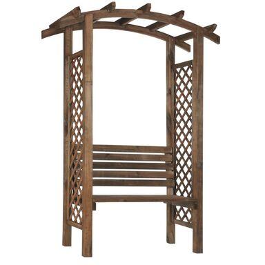 Pergola drewniana z ławką 157 x 68 x 220 cm NIVE NATERIAL