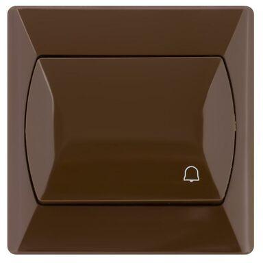 Przycisk dzwonek AKCENT  brązowy  OSPEL