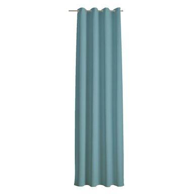 Zasłona zaciemniająca DOLCE BLACKOUT niebieska 135 x 260 cm na przelotkach