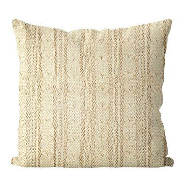 Poduszka Milan Jess kremowa imitacja swetra 45 x 45 cm