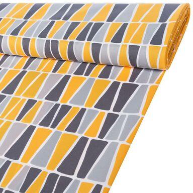 Tkanina leżakowa na mb SOLEIL żółto-szara szer. 160 cm
