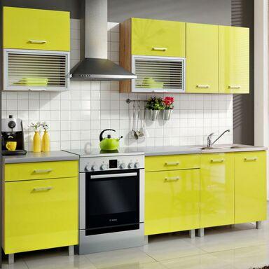 Zestaw mebli kuchennych FIONA kolor Limonka MEBLE OKMED   -> Kuchnia Weglowa Obi
