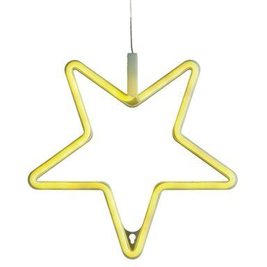Świecąca gwiazda 28.5 cm żółta NEON