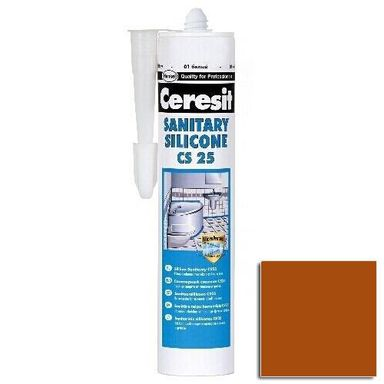 Silikon sanitarny  CS-25 280 ml Ceglasty CERESIT