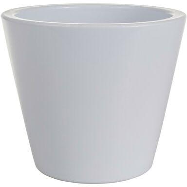 Osłonka na doniczkę 14 cm ceramiczna biała