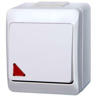 Włącznik schodowy z podświetleniem HERMES  biały  ELEKTRO - PLAST