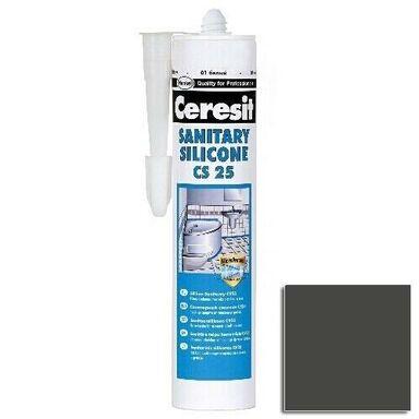 Silikon sanitarny  CS-25 280 ml Ciemny grafitowy CERESIT