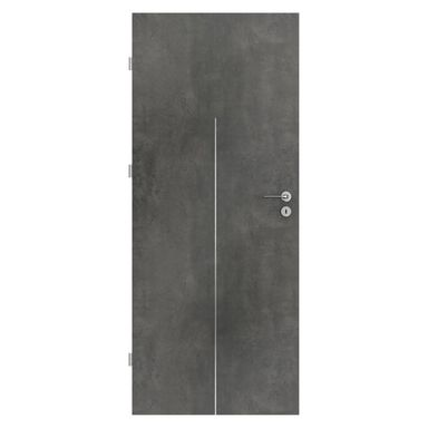 Skrzydło drzwiowe LINE Beton ciemny 80 Lewe PORTA