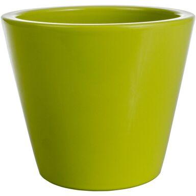 Osłonka na doniczkę 14 cm ceramiczna seledynowa