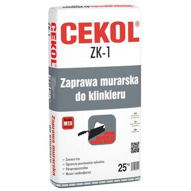 Zaprawa murarska do klinkieru ZK-1 Grafitowa 25 kg CEKOL