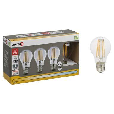 Żarówka LED E27 3 szt. (230 V) 12 W 1521 lm Ciepła biel LEXMAN