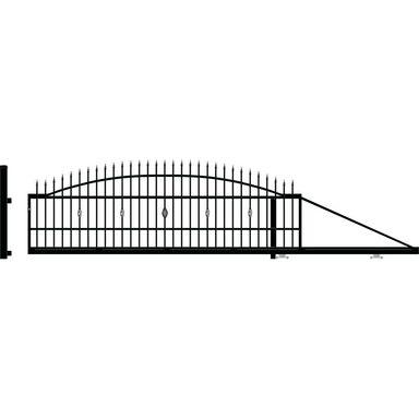 Brama przesuwna BOLTON 410 x 144 cm Prawa POLARGOS