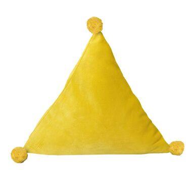 Poduszka trójkątna TREVI żółta 37 x 33 cm