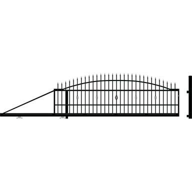 Brama przesuwna BOLTON 410 x 144 cm Lewa POLARGOS