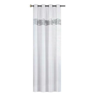 Firana na przelotkach Glamour 145 x 250 cm biała