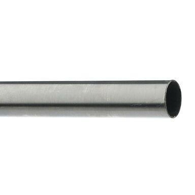 Drążek do karnisza LUX 200 cm srebrny 16 mm metalowy
