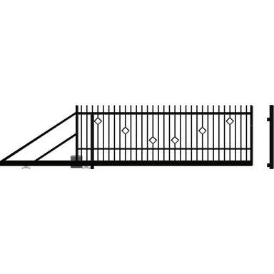 Brama przesuwna z automatem RITA II 410 x 144 cm Lewa POLARGOS