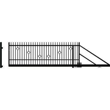 Brama przesuwna z automatem RITA II 410 x 144 cm Prawa POLARGOS