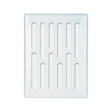 Kratka wentylacyjna stalowa 10 x 14 cm biała EQUATION