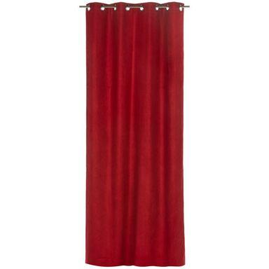 Zasłona gotowa SUEDE  kolor Czerwony 140 x 260 cm Kółka 180 g/m²  INSPIRE