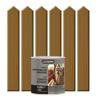 Lakier zewnętrzny do drewna EKSTREMALNA ODPORNOŚĆ 0.25 l Dąb ciemny LUXENS