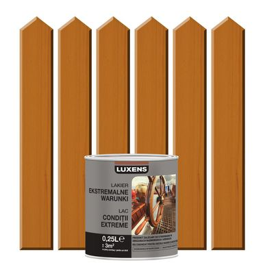 Lakier zewnętrzny do drewna EKSTREMALNA ODPORNOŚĆ 0,25 l LUXENS