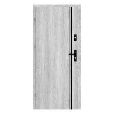 Drzwi wejściowe otwierane na zewnątrz HERMES Dąb Srebrny 90 Lewe NAWADOOR