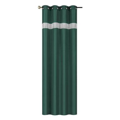 Zasłona Glamour zielona 145 x 250 cm na przelotkach