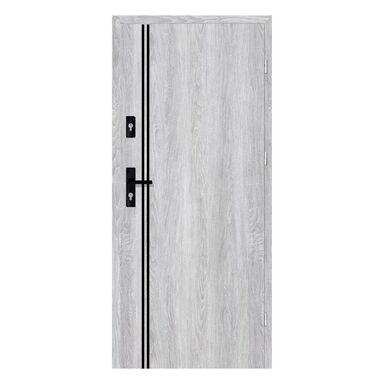 Drzwi wejściowe otwierane do wewnątrz HERMES Dąb Srebrny 80 Prawe NAWADOOR