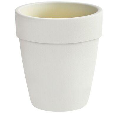 Doniczka ceramiczna 21 cm biała NATURA CERAMIK