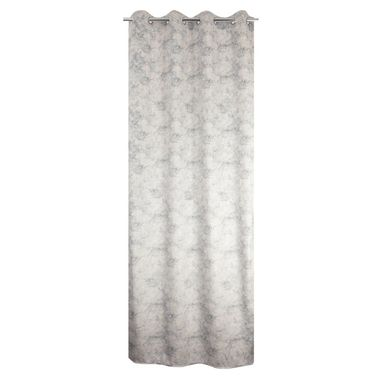 Zasłona Marbre szara 135 x 260 cm na przelotkach