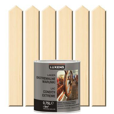 Lakier zewnętrzny do drewna EKSTREMALNA ODPORNOŚĆ 0.75 l Bezbarwny LUXENS