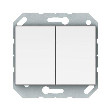 Włącznik podwójny VILMA P510-020-02B BIAŁY DPM