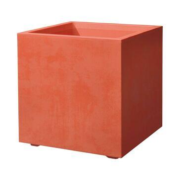 Donica balkonowa 39 x 39 cm plastikowa czerwona CUBO MIL