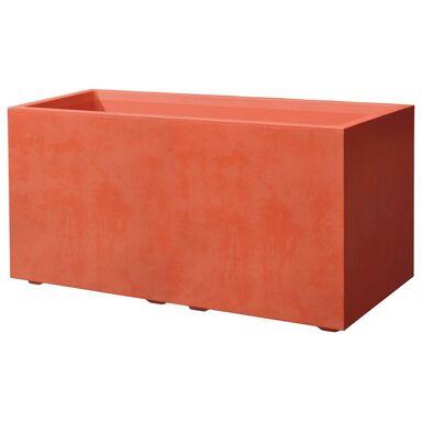 Skrzynka balkonowa 79 x 39.5 cm plastikowa czerwona CASS MIL
