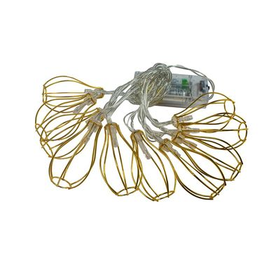 Lampki choinkowe na druciku 170 cm 10 LED złote