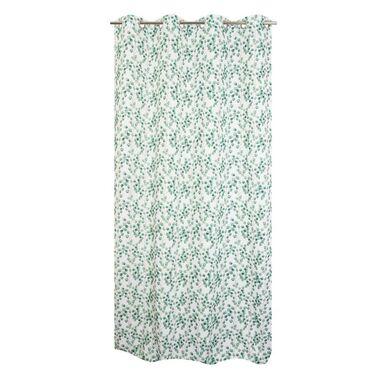 Zasłona w liście HALDA zielona 140 x 280 cm na przelotkach