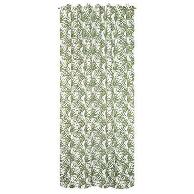 Zasłona w liście MAKINOI zielona 140 x 280 cm na przelotkach