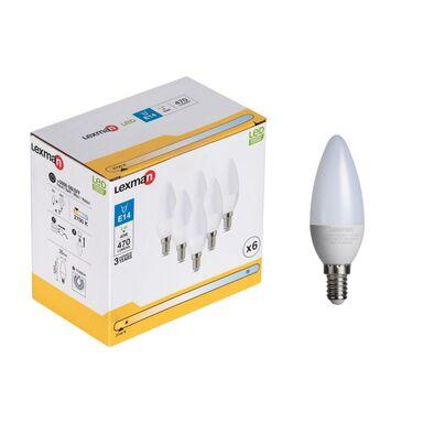 Żarówka LED E14 6 szt. 5 W = 40 W 470 lm Ciepła LEXMAN