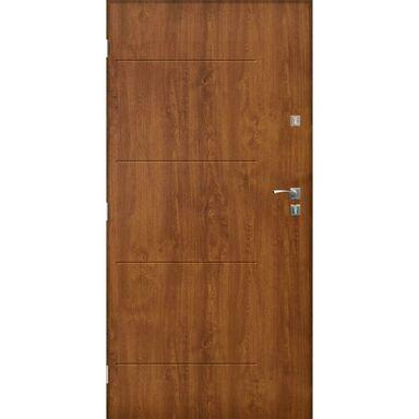 Drzwi zewnętrzne stalowe BARCELONA Złoty dąb 90 Lewe SEDRO