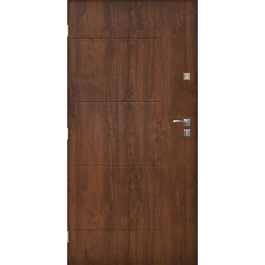 Drzwi wejściowe BARCELONA Orzech 80 Lewe SEDRO