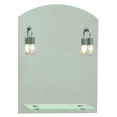 Lustro łazienkowe z oświetleniem kinkietowym PROSTOKĄT 60 x 80 DUBIEL VITRUM