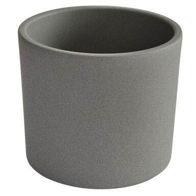 Osłonka ceramiczna 17 cm szara WALEC