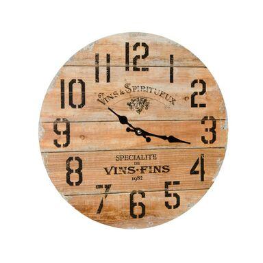 Zegar ścienny 6995 śr. 33.8 cm brązowy