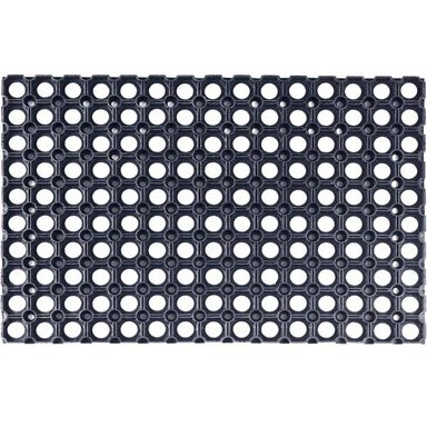 Wycieraczka zewnętrzna Alfa 60 x 40 cm gumowa czarna Inspire