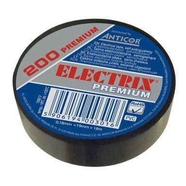 Taśma izolacyjna 19 mm 18 m czarna ELECTRIX 200 PREMIUM