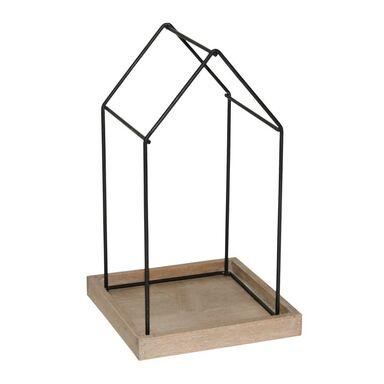 Świecznik dekoracja stołowa 19 x 30 cm czarny