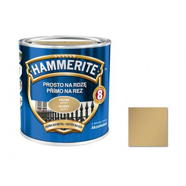 Farba antykorozyjna PROSTO NA RDZĘ 0.25 l Złoty Połysk HAMMERITE