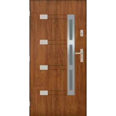 Drzwi zewnętrzne stalowe NIMES Złoty dąb 90 Lewe PANTOR