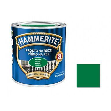 Farba antykorozyjna PROSTO NA RDZĘ 0.25 l Zielony Połysk HAMMERITE